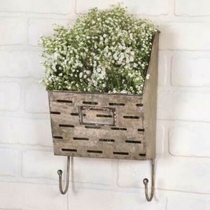 Vented Industrial Wall Caddy with Hooks